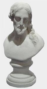 Buste du Sacré-Coeur reçu en cadeau par Adolphe LeBlanc au moment de prendre sa retraite, après 18 ans de service comme ouvrier pour travaux intérieurs et exterieurs au couvent.