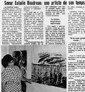 Article tiré de L'Évangéline (1974, 24 juillet, p. 5).