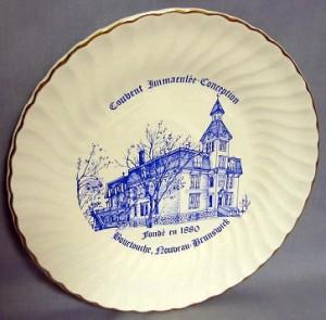 Assiette commémorative du centenaire du couvent