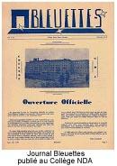 Journal Bleuettes publié au collège NDA