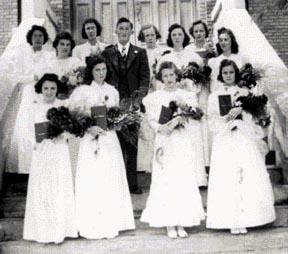 Diplômés de l'École de Grand-Sault en 1940.