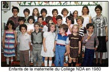 Enfants de la maternelle du Collège NDA en 1960.
