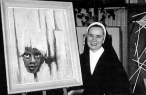 Soeur Marie-Léonide dans son studio.