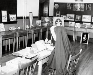 Studio de peinture de soeur M.-Agnès à la maison mère de Memramcook.