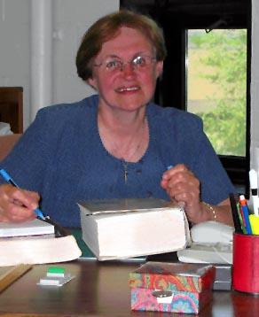 Soeur Ella Arsenault, Secteur langues, Faculté des arts.