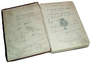 Le troisième livre de lecture, édité à Londre en 1882 (anglais et français).
