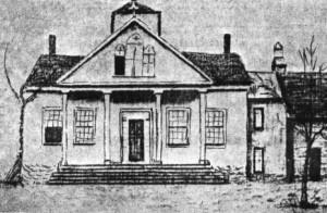 Esquisse de l'Académie de Madawaska à Saint-Basile 1859-1873.(Archives des SCIC)