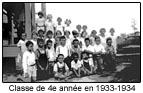 Classe de 4e année en 1933-1934.