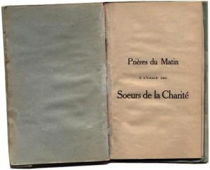 Livre de prières du matin des SCIC de langue française avant 1924.