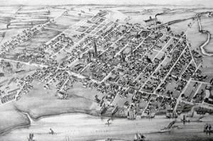 Moncton en 1881.(Original au musée de Moncton)