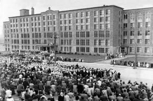 Bénédiction du Collège NDA le 8 septembre 1949.