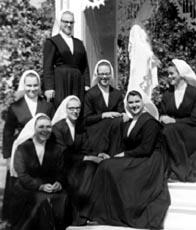 Novices au couvent de Bouctouche, 1967.