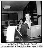 Carmelle Frenette du cours commercial à Petit-Rocher vers 1958.