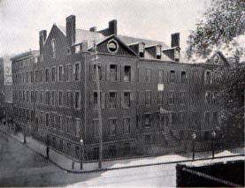 Orphelinat Saint-Patrick à New York vers 1855.(Croquis original aux archives des soeurs de la Charité à New York)