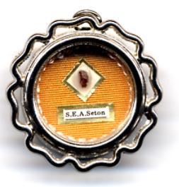 Relique d'Elizabeth Seton(Don des Filles de la Charité en 1989).