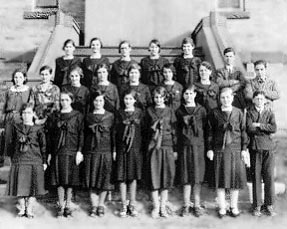 Pensionnaires du couvent de Saint-Anselme, 1932.