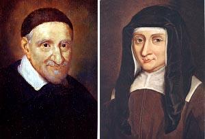 Portrait de Vincent de Paul (1581-1660) et de Louise de Marillac (1591-1660)(Photographie de Pierre Bizet)